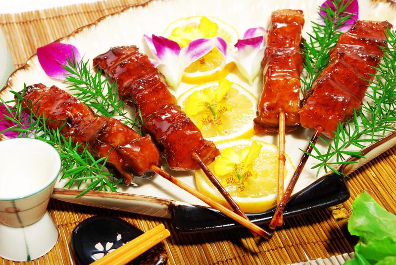 Roasted Eel with Bamboo Skewering